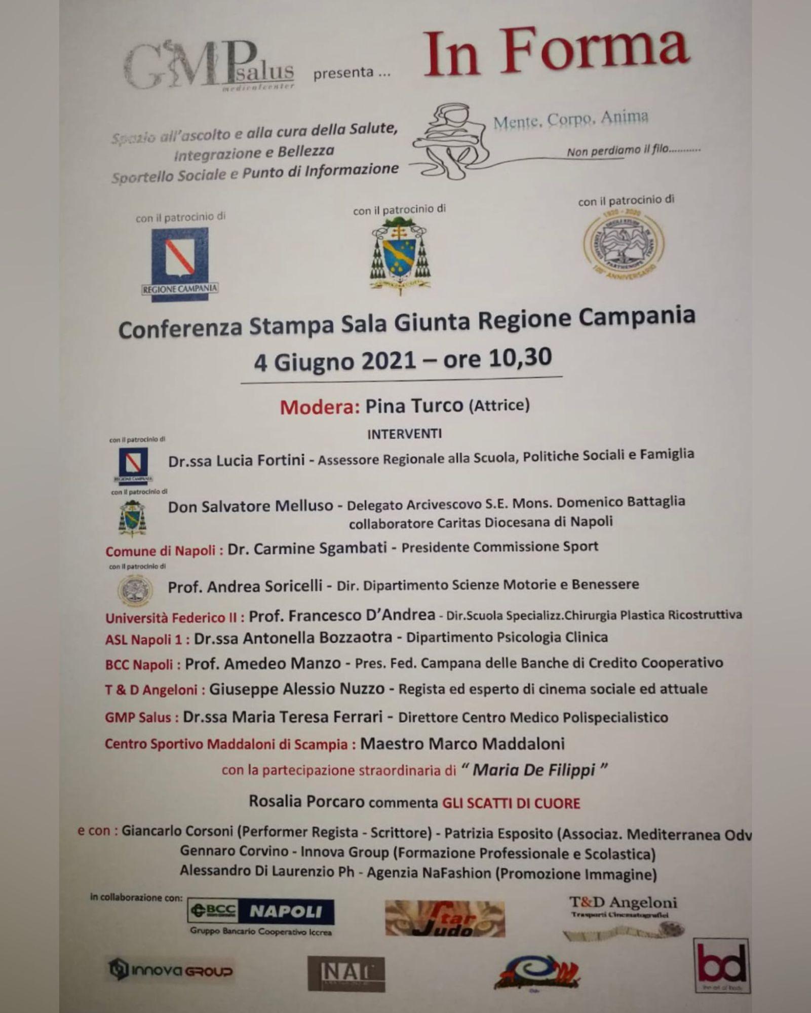 4 Giugno 2021, Il Prof D'Andrea sarà ospite alla Giunta regionale della Campania
